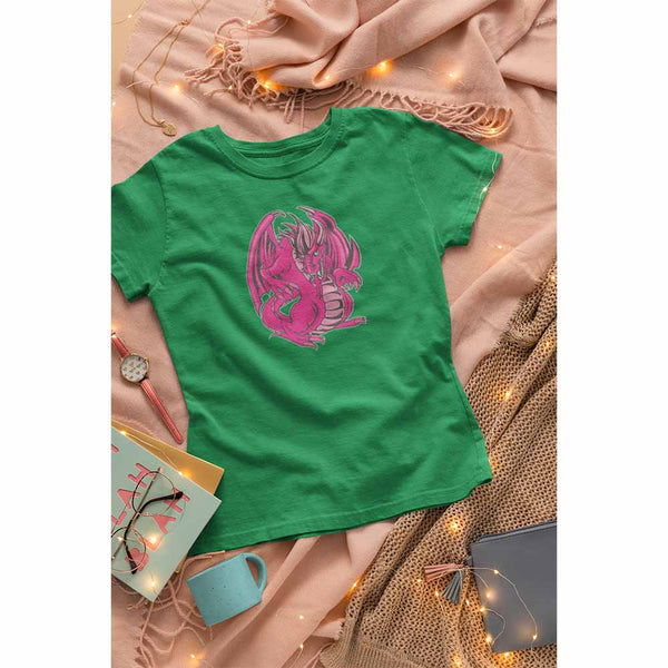 Mogdor The Dragon - Pink - Women's Dragon T-shirt