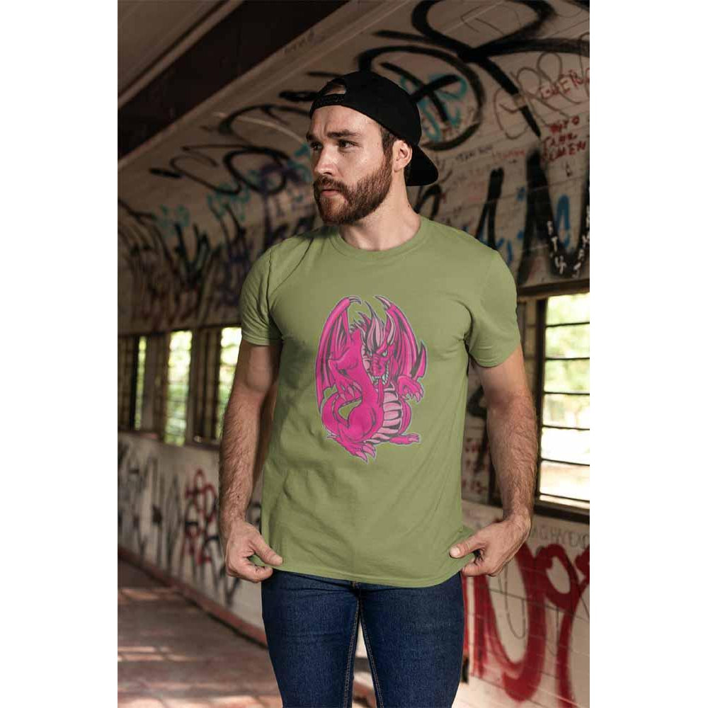 Mogdor The Dragon - Pink - Unisex Dragon T-shirt