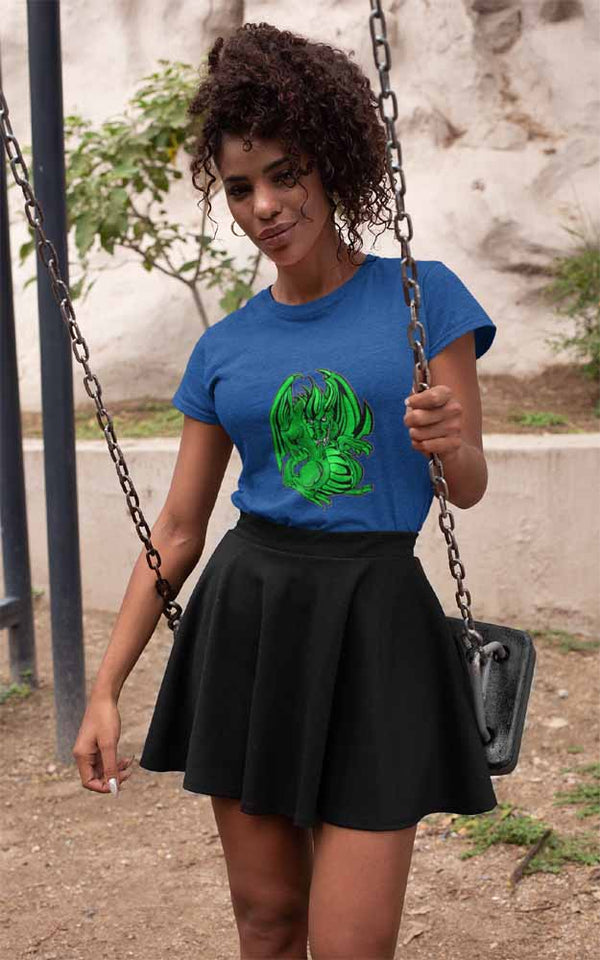 Mogdor The Dragon - Green - Women's Dragon T-shirt