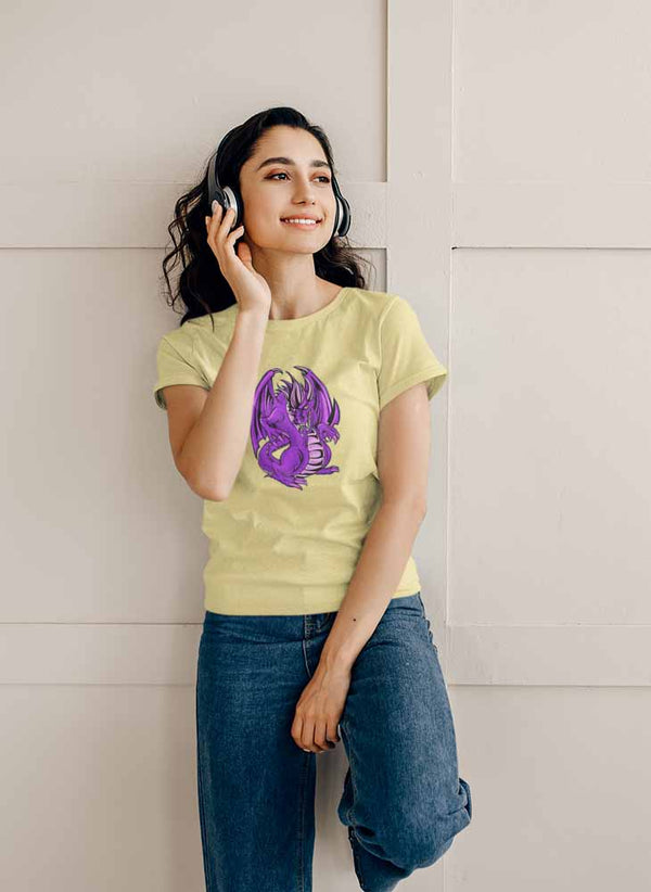Mogdor The Dragon - Purple - Women's Dragon T-shirt
