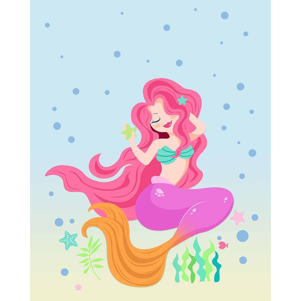 Pretty Miss Mermaid - Mermaid Art Prints & Posters