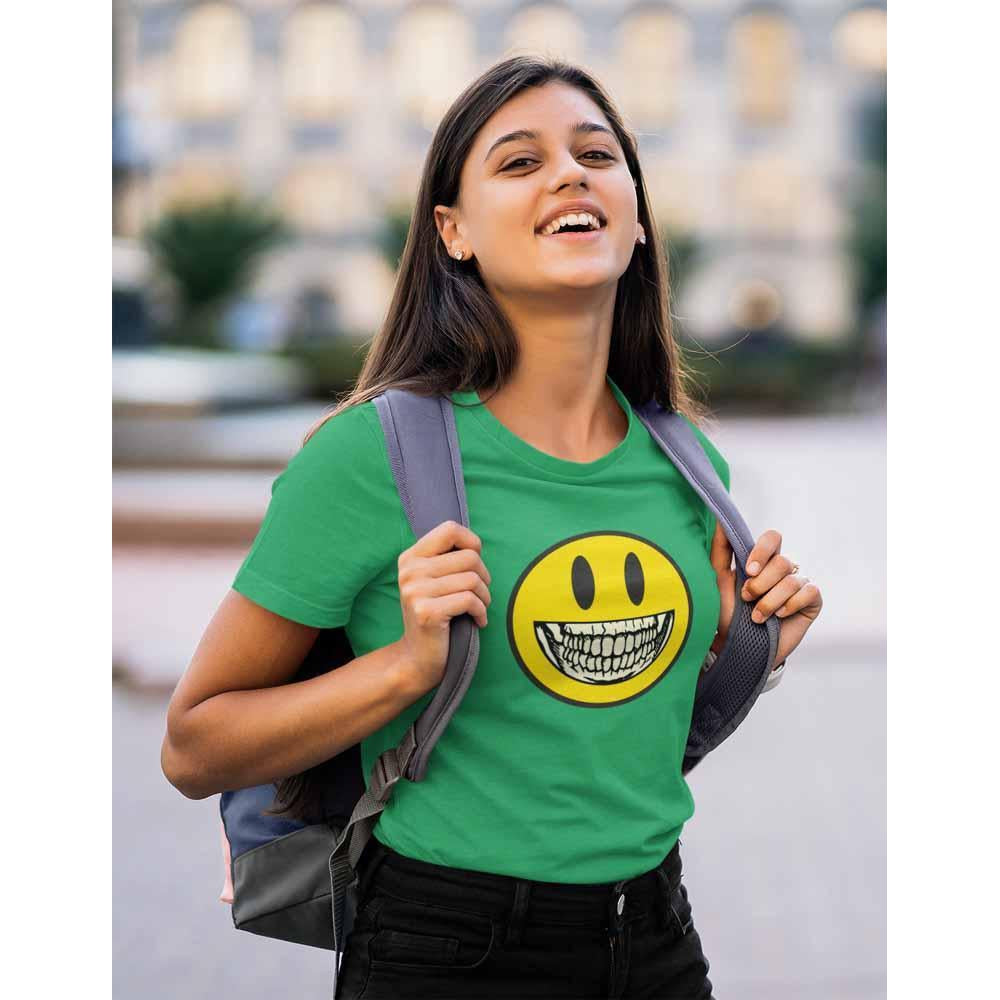 Smiley Skelly - Women's Dark T-shirt