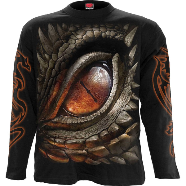 Dragon's Eye - Black All-Over Longsleeve T-Shirt