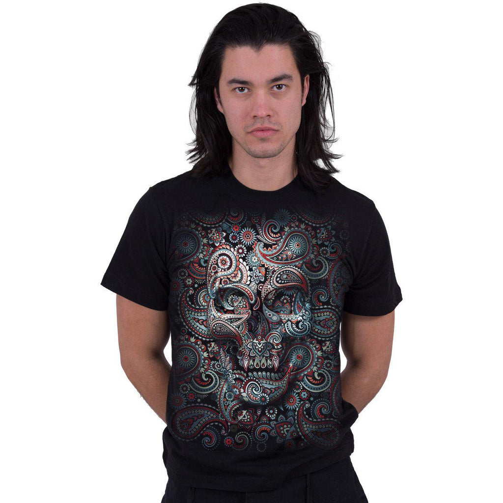 Paisley Days - Black Unisex T-Shirt