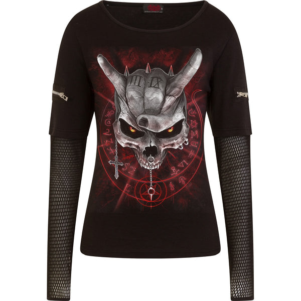 Heavy Metal Terror - Mesh Longsleeve Women's Top