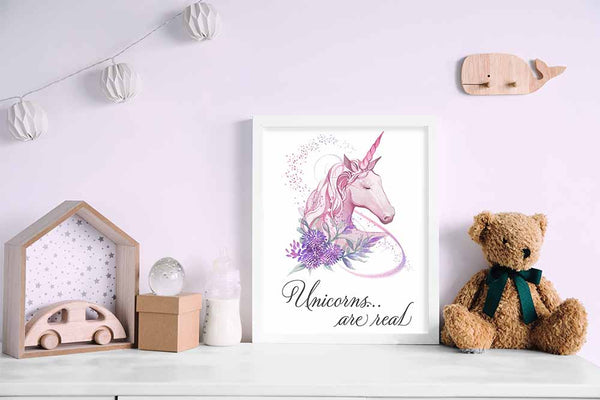 Unicorns Are Real - Unicorn Art Prints & Posters