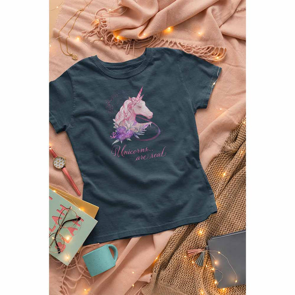 Unicorns Are Real - Women's Unicorn T-shirt