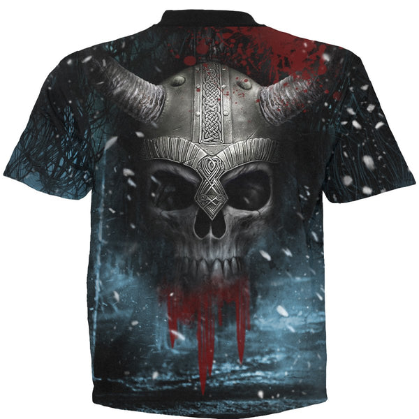 Valhalla Beckons - All-Over Black T-shirt