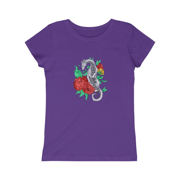 Flower Dragon - Girl's Princess Dragon T-shirt
