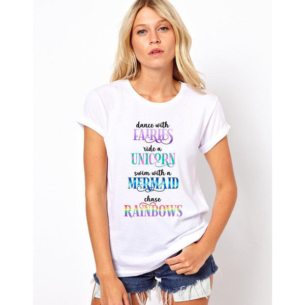 Fairies, Unicorns, and Mermaids, Oh My! Women's T-Shirt