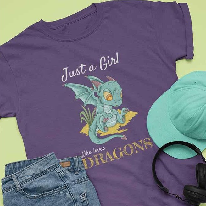 Just a Girl Who Loves Dragons - Unisex Dragon T-shirt