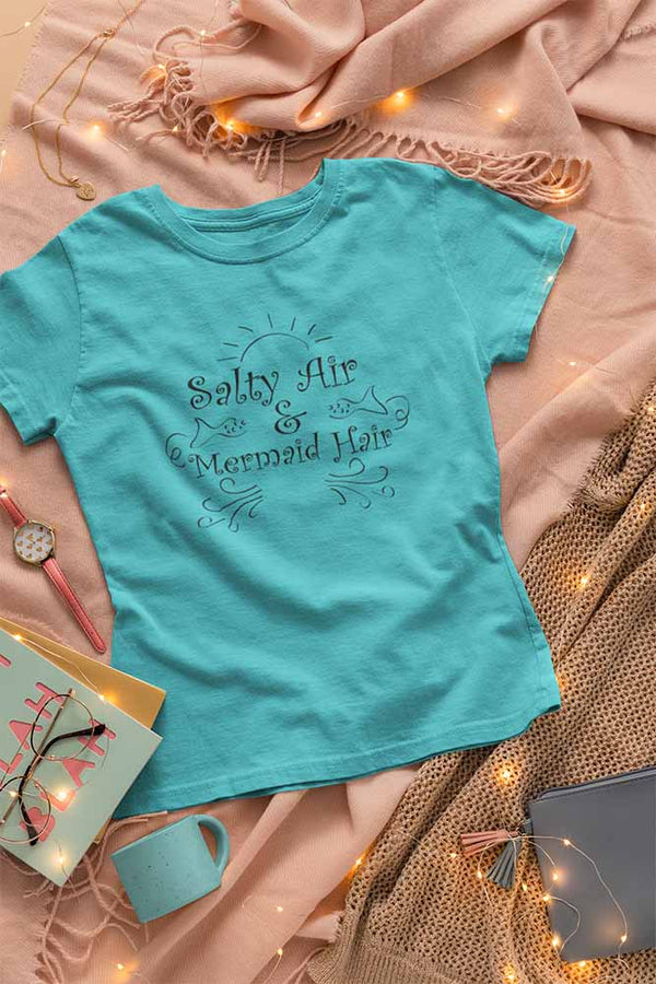 Salty Air Mermaid Hair 2 - Women's Mermaid T-shirt