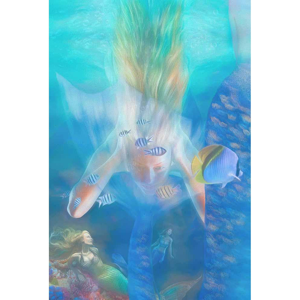 Swimming with Mermaids - Mermaid Art Prints & Posters