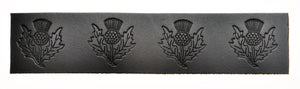 Embossed Thistle Pattern Belt