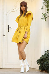 Frilled Mustard Dress