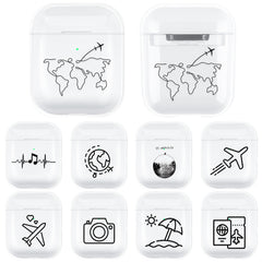 Transparent Hard PC Case For Apple Airpods 2 1 Wireless Headphone Protective Cover Shockproof Box For AirPods Earphone Coque