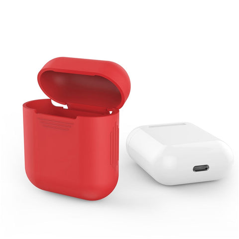 Protective Silicone Case Sleeve Skin Cover for Apple AirPods True Wireless Headphone Shock Proof with Anti-slip on the Two Side