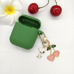 Cute Cherry Dog Cosmic Astronaut Pendant for Apple Airpods Case Accessories Bluetooth Silicone Earphone Cases Headphones Cover