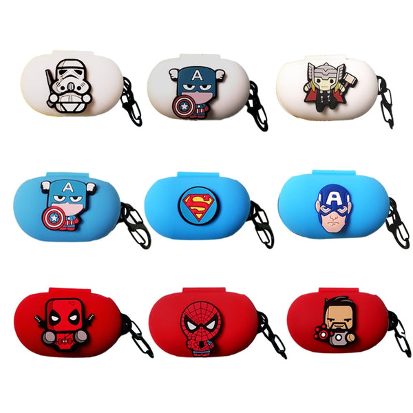 Cartoon Silicon Cover For Samsung Galaxy Buds / Galaxy Buds+ Case Charging Sleeve Wireless Headphone Earphone Protective Skin