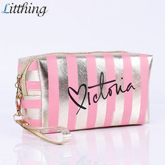 Litthing Fashion PU Leather Cosmetic Storage Bags 2020 New Women Make Up Bag PVC Pouch Wash Toiletry Bag Travel Organizer Case