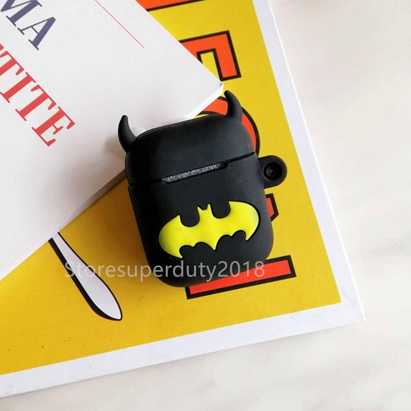 For Airpods 2 Case Silicone Stitch Cartoon Cover For Apple Airpods Case Cute Earphone 3D Headphone case Protective