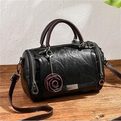 Fashion Women Shoulder Bag with Flower Pendant Ladies Totes Party Purse Boston Handbag Casual Female Messenger Cross body Bags