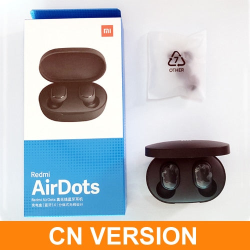 Original Redmi AirDots TWS Wireless Xiaomi Bluetooth Earphone Stereo Bluetooth 5.0 Mini Headset With Mic Earbuds