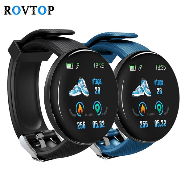 Rovtop D18 Smart Watch Men Women Blood Pressure Round Smartwatch Waterproof Sport Smart Watch Fitness Tracker For Android Ios Z2