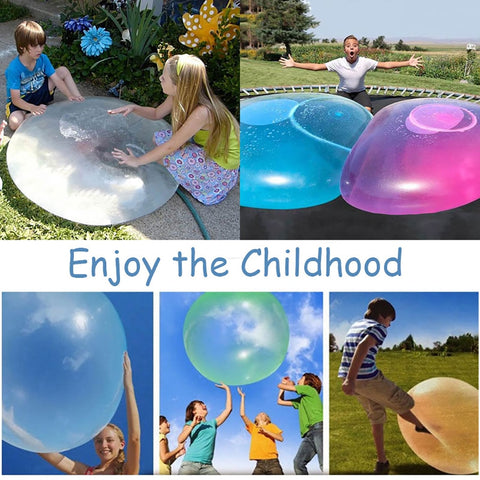 Children Outdoor Soft Air Water Filled Bubble Ball Blow Up Balloon Toy Fun party game gift for kids inflatable funny ball