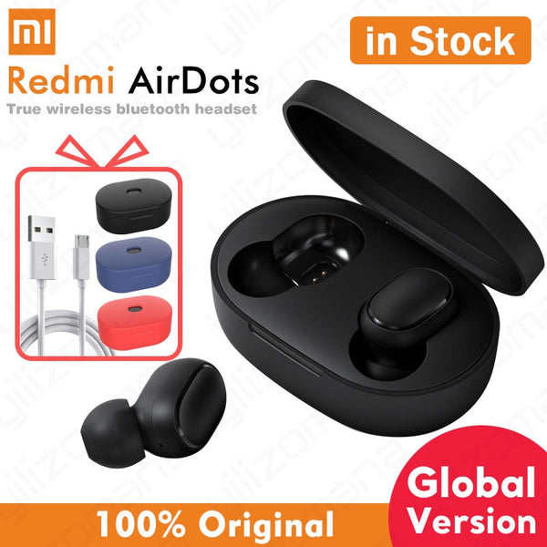 Xiaomi airdots Redmi AirDots Wireless Bluetooth 5.0 Earphone In-Ear stereo bass Earphones With Mic Handsfree Earbuds AI Control