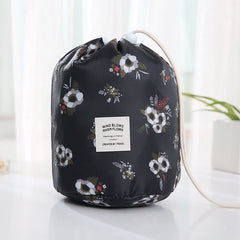 Hot Sale Round Waterproof Makeup Bag Travel Cosmetic bag Organizer Toiletry Makeup Bags For Women Ladies Box Neceser