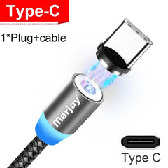 Magnetic Marjay Micro USB Cable For iPhone Samsung Android Fast Charging Magnet USB Charger Type C Cable Mobile Phone Wire