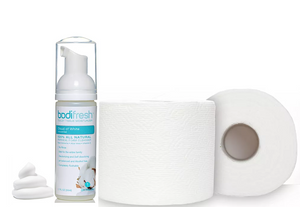 Instantly Transform your toilet paper into a completely flushable wipe