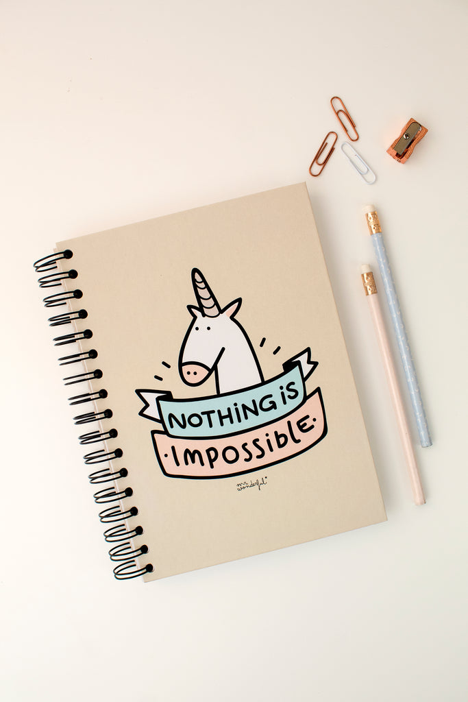 LIBRETA COLOR NOTHING IS IMPOSSIBLE