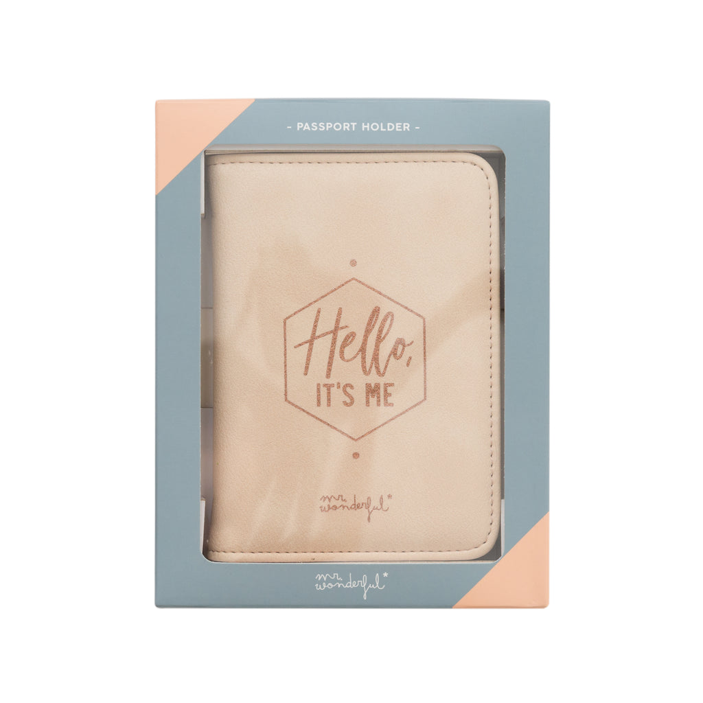 FUNDA PARA PORTAPASAPORTE HELLO IT'S ME