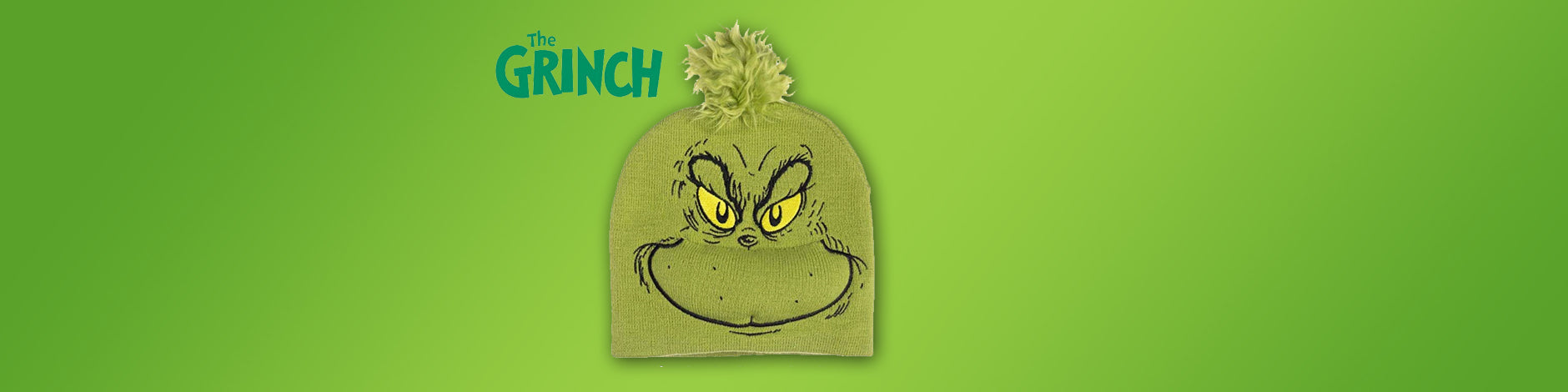 Beanie The Grinch at 50% off