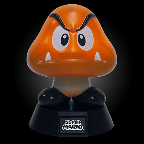 Super Mario 3D Light Goomba 10 cm Paladone Products Nintendo Gadgets