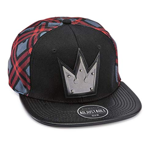 Bioworld Kingdom Hearts - Crown Black & Red Snapback Cap Hat