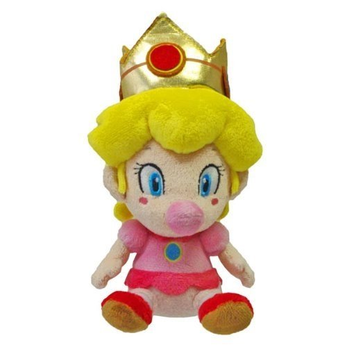 Little Buddy Super Mario Bros 5-Inch Baby Peach Plush