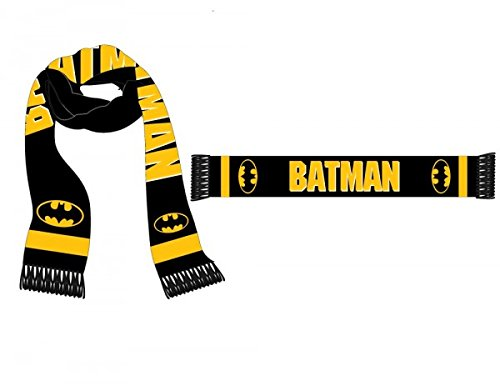 DC Comics - Batman Logo Jacquard Winter Scarf, Black