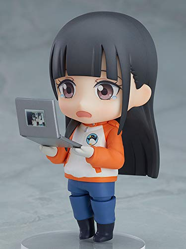 Shirase Kobuchizawa Nendoroid Action Figure with laptop