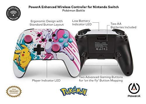 PowerA Enhanced Wireless Controller for Nintendo Switch - Pokemon Battle - Nintendo Switch