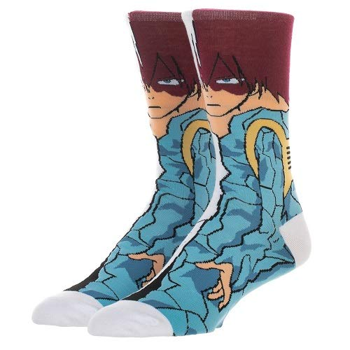 My Hero Academia - Todoroki 360 Character Crew Socks, Men's 10-13