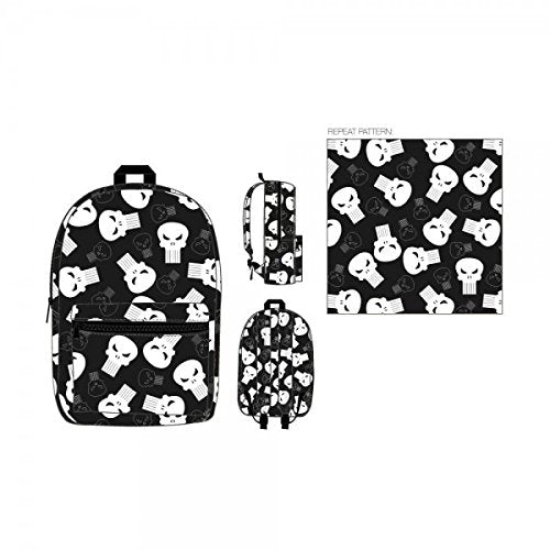 The Punisher - Skull Logo Adult and Teen School Backpack