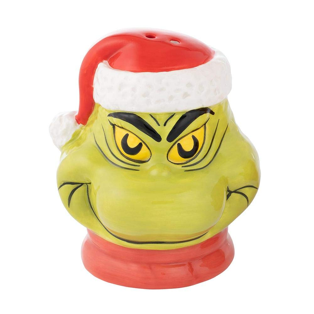 Dr. Seuss Grinch Sculpted Ceramic Salt & Pepper Set