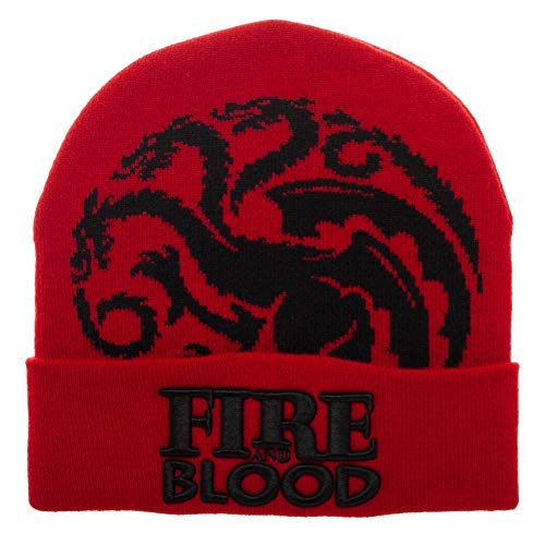 Game of Thrones - Fire and Blood Red Winter Hat Beanie