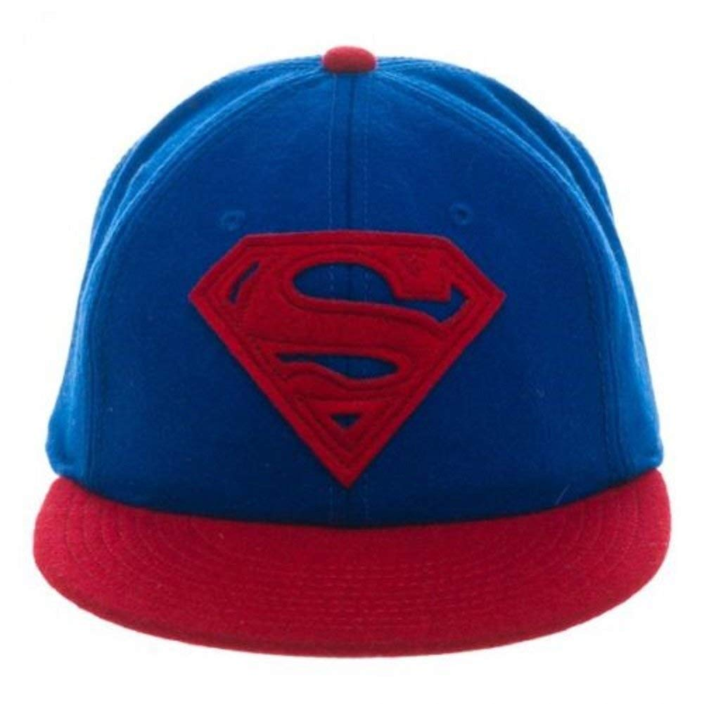 DC Comics - Superman Logo Wool Flat Bill Strapback Hat