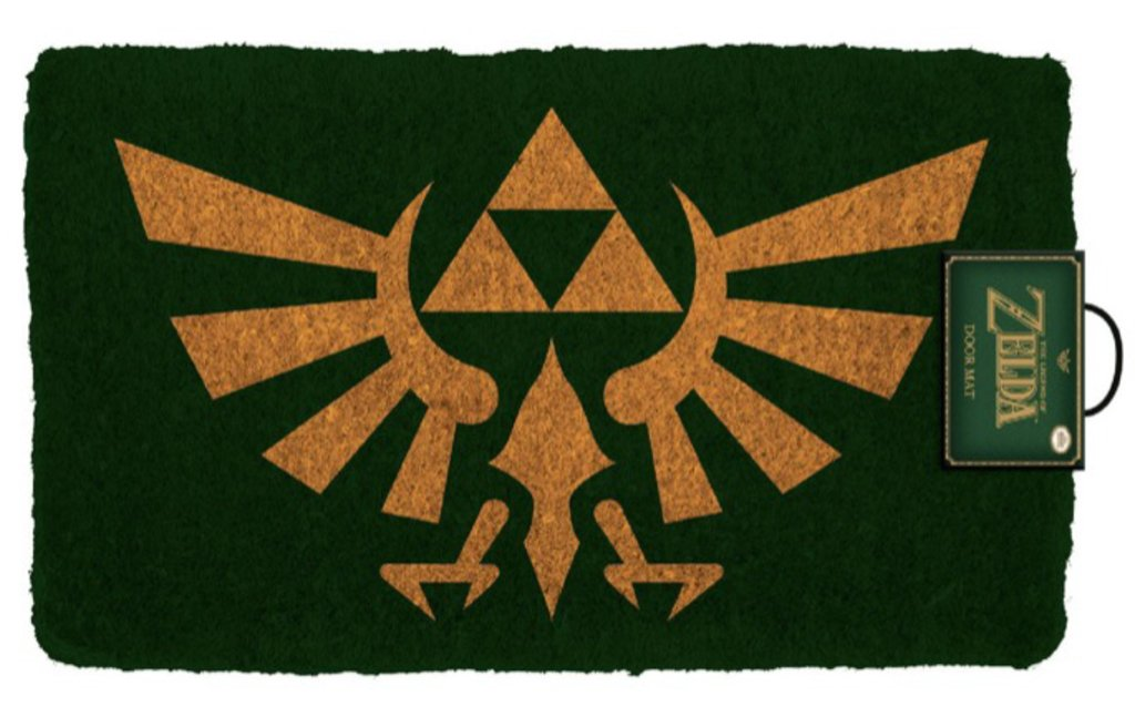 The Legend of Zelda Crest Video Game Outdoor Doormat
