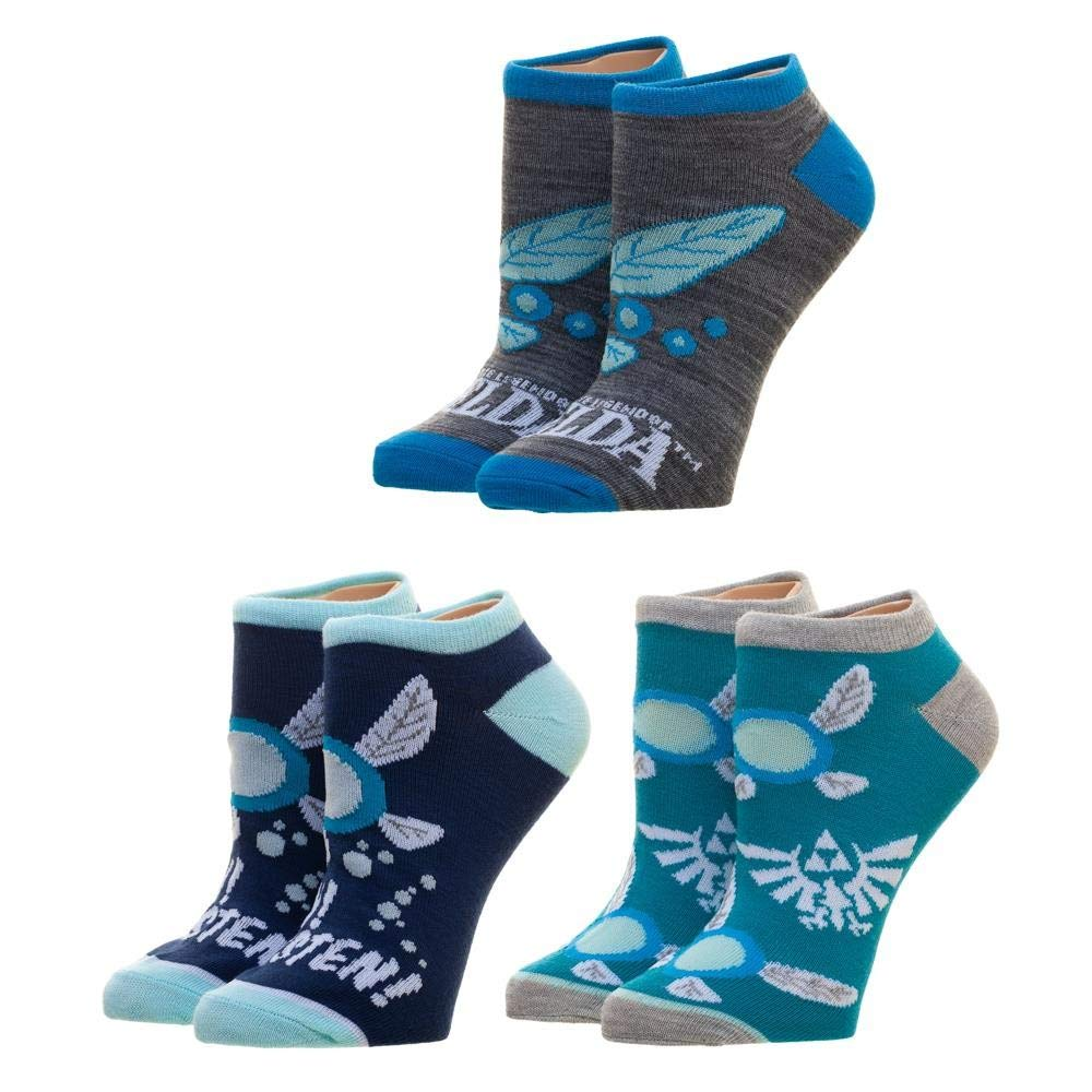 Nintendo - Legend of Zelda - Navi 3-Pack Ankle Socks