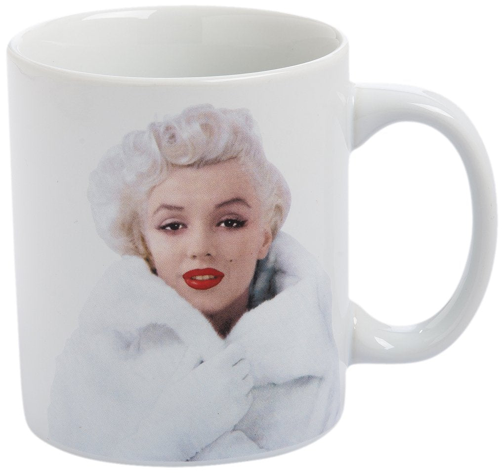 Vandor 70061 Marilyn Monroe Just a Girl Ceramic Coffee Mug, 12 oz, Multicolor